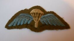 Parachute Jump Wing Second War Padded Type With Silk Detail     J