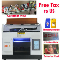 A4 Uv Printer 6 Color L800 Head For Phone Case Glass Metal Wood 3d Embossed Andink