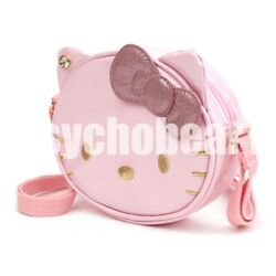 Hello Kitty Lovely Face Cross Body Bag Kids Girls Cute Design Light Pink $20.99