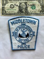 Middletown Rhode Island Police Patch In Great Shape