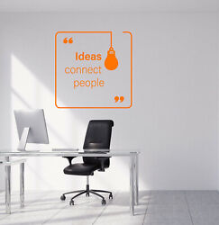 Vinyl Wall Decal Ideas Connect People Office Decor Quote Words Stickers 4050ig