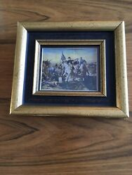 Antique Original Miniature Painting Appear Signed Meissonier Matted Framed