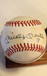 Mickey Mantle 7 Uni Signed Official American League Baseball Please Read