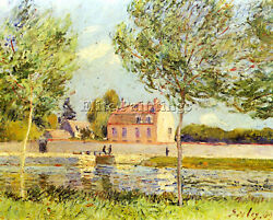 Alfred Sisley Houses On The Banks Of The Loing Artist Painting Reproduction Oil