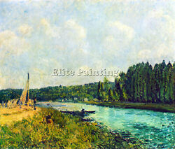Alfred Sisley The Banks Of The Oise Artist Painting Reproduction Handmade Oil