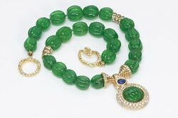 Ciner Green Glass Beads Mughal Style Necklace