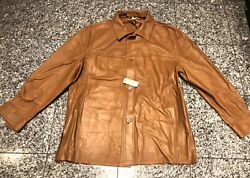 Sulka For Bergdorf Goodman Camel Brown Leather Menandrsquos Shirt Jacket