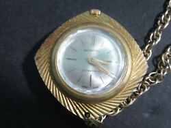 Schaffel Swiss Made Watch Pendant With Picture Of John F Kennedy Necklace Works