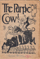 Gelett Burgess / The Purple Cow Signed First Edition 1895