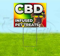 Cbd Infused Pet Treats 18x24 Yard Sign With Stake Corrugated Bandit Pets Dogs