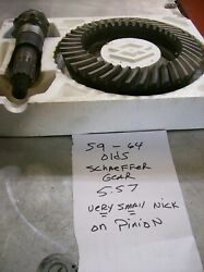 59-64 Olds Schaeffer Ring And Pinion 5.57