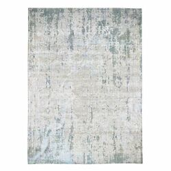 8'9x11'10 Roman Mosaic Design Hand Knotted Modern Wool And Silk Rug G47433