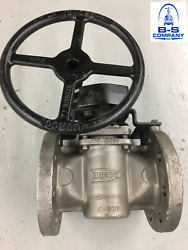 Plug Valve Durco G431 4 300 Rf Flanged Cn7m Alloy 20 Stainless Gear Operated