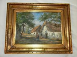 Antique Painting From Argentina Vevo/ Hola Vielo Artist Very Old Signed