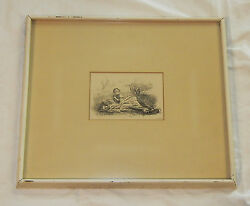 Sir John Everett Millais - Signed And Dated Etching 1859 Amazing Framed Antique