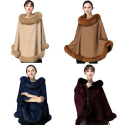 Best Fox Fur Capes Cashmere And Wool Shawl Wraps Winter Warm Poncho Party Dinner