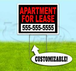 Apartment For Lease Custom Phone 18x24 Yard Sign With Stake Corrugated Bandit