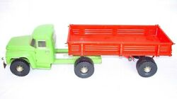 Russia Cccp Made Zil Truck And Trailer Triang Tin Plated 78cm Long Nm`93 Top Rare