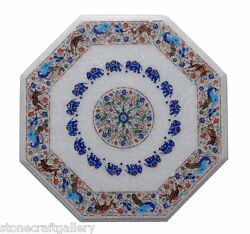 24 Marble Center Coffee Table Top Pietra Dura Inlay Art For Home Decor