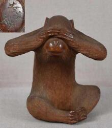 Supperb 19th C. Japanese Carved Wood Netsuke. By Kosai.