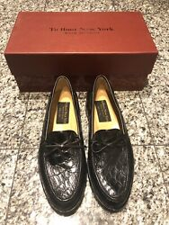 To Boot New York Adam Derrick Black Crocodile Menandrsquos Loafers Shoes