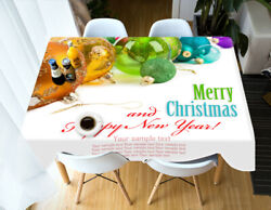 3d Letter Ball O31 Christmas Tablecloth Table Cover Cloth Birthday Party An