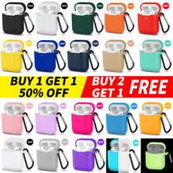 For Apple AirPods 2amp;1 Silicone Case Protector Shockproof Full Cover Keychain