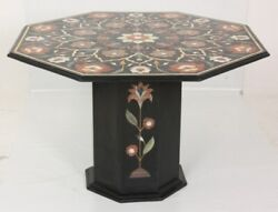 42 Marble Inlay Table Top Semi Precious Stones Work With Marble Stand
