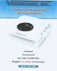 Visionaire Heavyduty Rooftop Air Conditioner 24volt For Heavy Machines Brand New