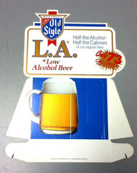 Old Style L.a. Beer Sign Bar Signs 1 1984 Cardboard Display Low Alcohol Old Uy5