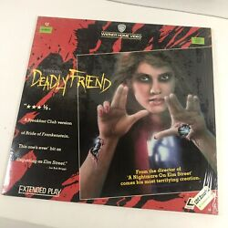 Deadly Friend 1986 Laserdisc Wes Craven Extended Play Horror Movie Halloween