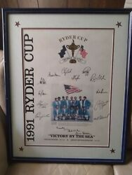 Rare Ryder Cup 1991 Team Signed Poster