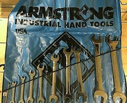 Armstrong 10 Piece, 1/4 X 5/16 To 1-3/8 X 1-7/16 Open End Wrench Set