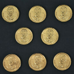 Lot Of 8 1963 John Fitzgerald Kennedy Us Presidential Tokens A-1724