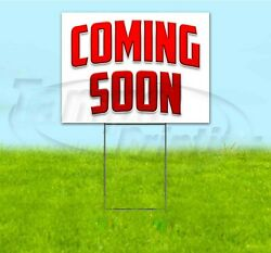 Coming Soon 18x24 Yard Sign With Stake Corrugated Bandit Usa Business