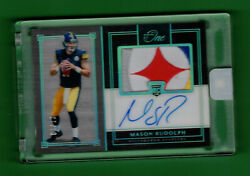 2018 Panini One Mason Rudolph Auto On Card Logo Patch Relic Rc 1/10 Steelers