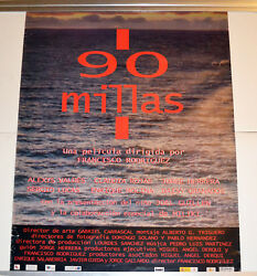 Original Cuban Movie Poster.90 Millas Miles.cubanamerican Art.exiles.miami.