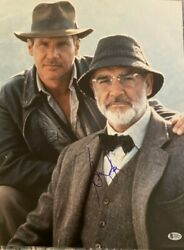 Harrison Ford Signed Autographed 16x20 Photo Sean Connery Indiana Jones Beckett