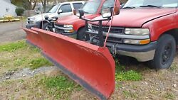 8 Ft Boss Rt3 Snowplow Straight Blade W/wiring And Controller Snow Plow 74