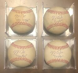 Mike Trout 2012 Rookie Auto Hit Ball Set Home Run Triple Double Single MLB Auth