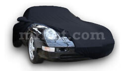 For Porsche 911 993 Black Indoor Fabric Car Cover W/ Mirror Pockets 1993-98 New