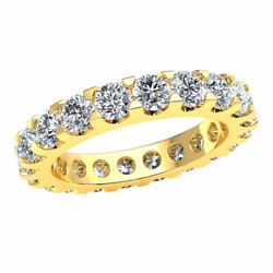 3.3 Ct Natural Diamond Low U-prong Eternity Band Promise Ring 10k Gold Gh Si1