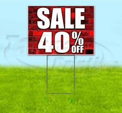Sale 40 Off 18x24 Yard Sign With Stake Corrugated Bandit Usa Business Deals