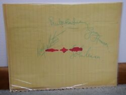 The Beatles Autograph All Four Members By Hand in Ink John Paul Ringo