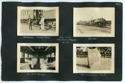 Northern Pacific Railroad Conductor Diner Car + Bozeman Butte Mt 8 1920s Photos