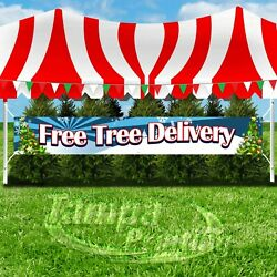 FREE TREE DELIVERY Advertising Vinyl Banner Flag Sign LARGE XXL SIZE CHRISTMAS