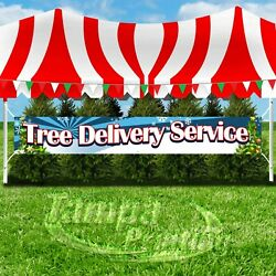 TREE DELIVERY SERVICE Advertising Vinyl Banner Flag Sign LARGE SIZE CHRISTMAS