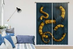 3d Yellow Boa Constrictor O016 Photo Curtain Printing Fabric Window Vincent Amy