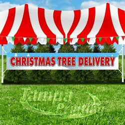 CHRISTMAS TREE DELIVERY Advertising Vinyl Banner Flag Sign LARGE SIZE HOLIDAYS