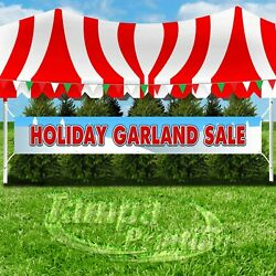 HOLIDAY GARLAND SALE Advertising Vinyl Banner Flag Sign LARGE SIZE CHRISTMAS